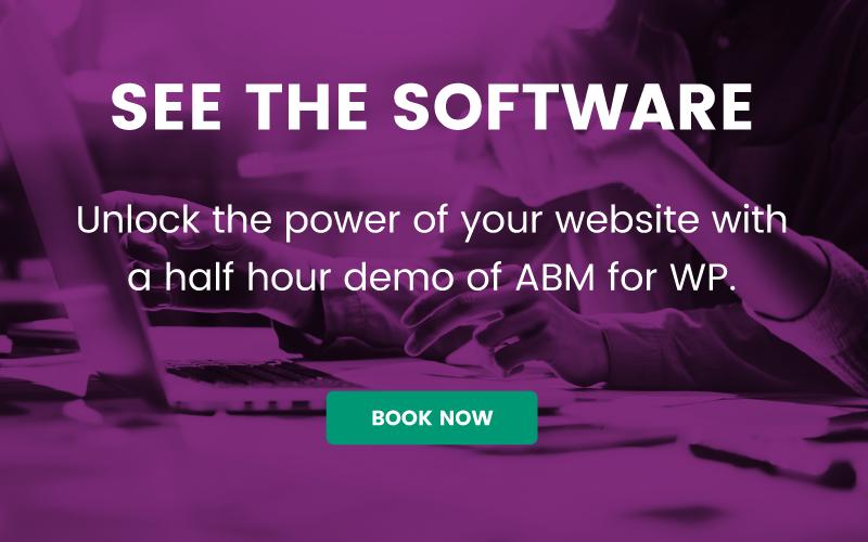 ABM for WP book a demo