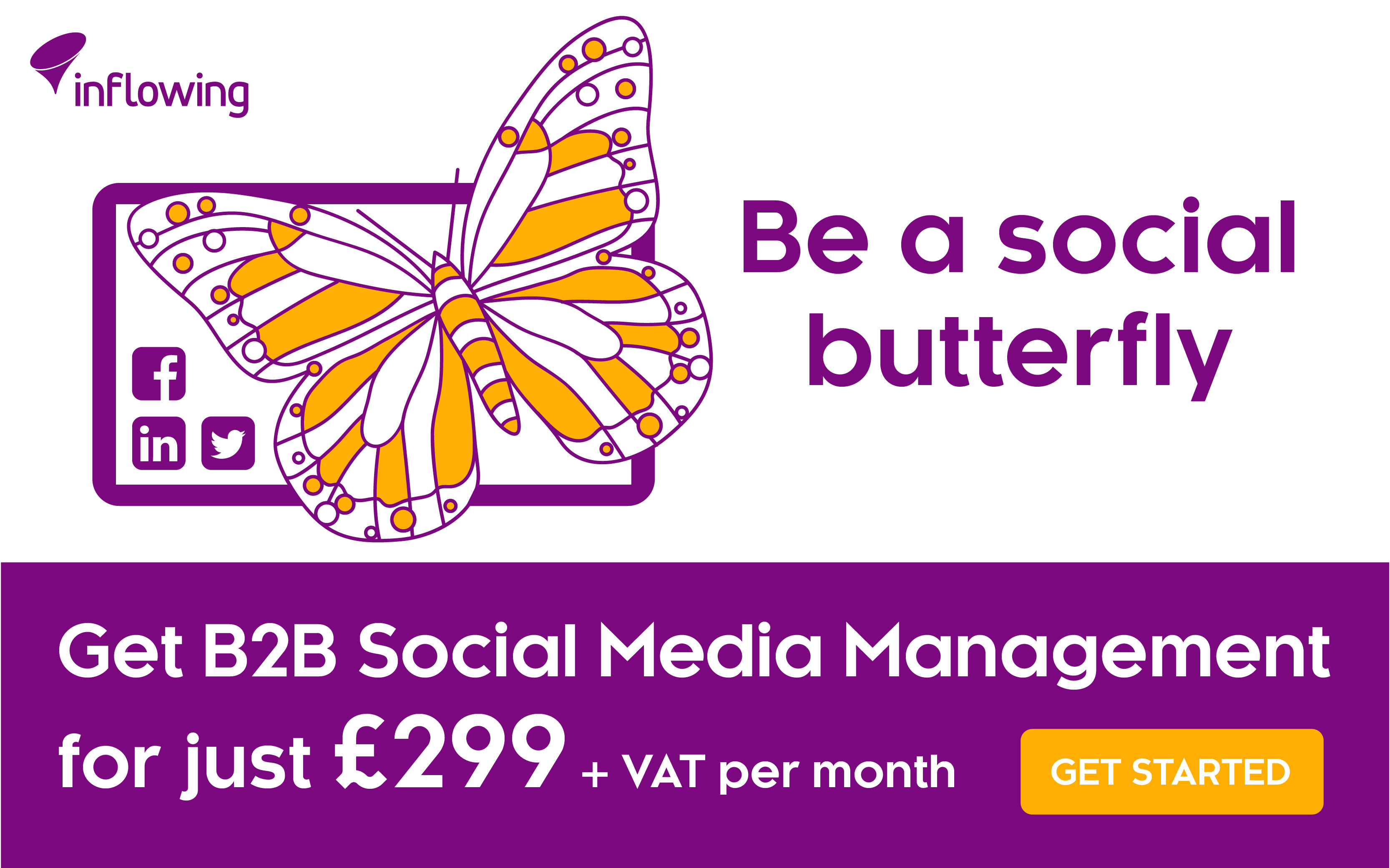 B2B Social Media Management £299 + VAT